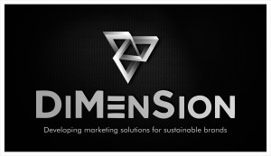 DiMenSion - logo - crno belo